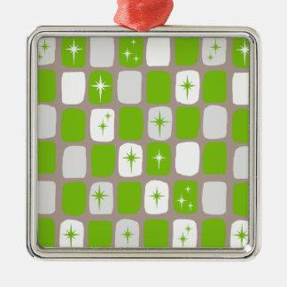 Retro grüne und weiße silbernes ornament
