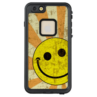 Retro Grungy smiley-Sonnendurchbruch LifeProof FRÄ' iPhone 6/6s Plus Hülle