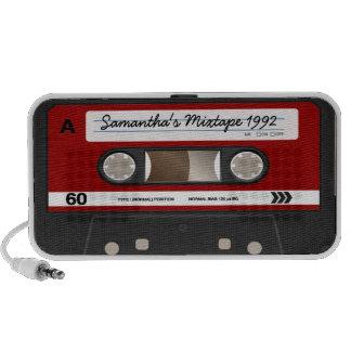 Rétro haut-parleur personnalisé par cassette rouge
