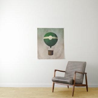 Retro Heißluft-Ballon-kleine Wand-Tapisserie Wandteppich