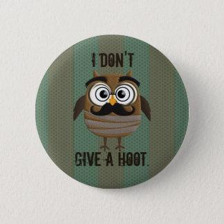 Rétro hibou vintage badge rond 5 cm