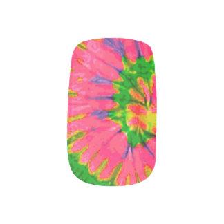 Retro Hippy gefärbte Krawatte Minx Nagelkunst