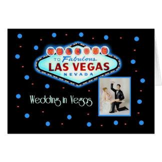 Retro Hochzeit in Las Vegas mit Braut-u. Karte