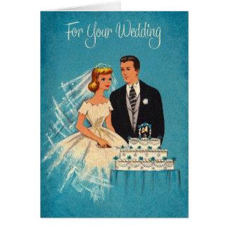 Retro Hochzeits-Gruß-Karte Grußkarte