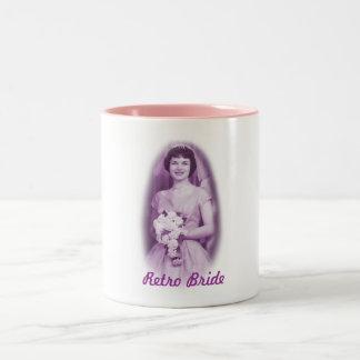 Retro Hochzeits-Tasse Zweifarbige Tasse