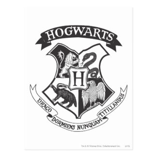 Retro Hogwarts Wappen Harry Potter | Postkarte