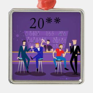 Retro homosexuelle Bar-Verzierung Silbernes Ornament