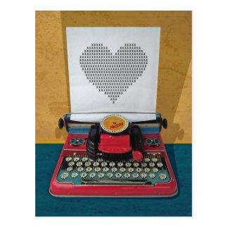 Retro I.T. 50er Vintage Spielzeug-Schreibmaschine Postkarte