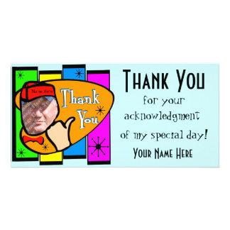 Retro inspiriertes Foto danken Ihnen zu kardieren Photo Grußkarte
