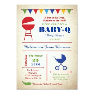 Rétro invitation de baby shower de Bébé-q