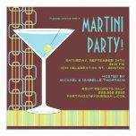 Rétro invitation de cocktail de Martini