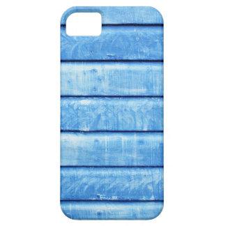 Retro iPhone Fall mit blauem hölzernem Hintergrund iPhone 5 Hüllen