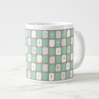 Retro Jade-Sternexplosion-riesige Kaffee-Tasse Jumbo-Tasse