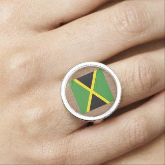 Retro Jamaika-Flagge Ringe