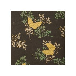 Retro japanischer Schmetterling Holzdruck