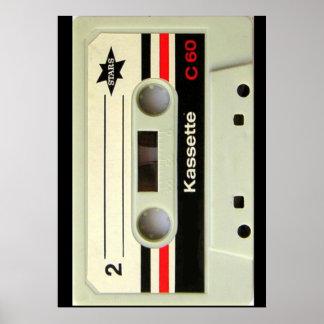 Retro Kassette Geeky nerdy Achtzigerjahre Kassette Poster