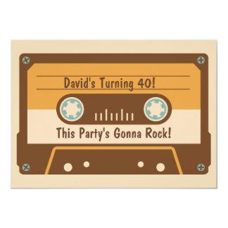 Retro Kassetten-Band-Party Einladung