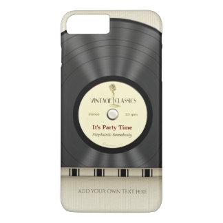 Retro klassische Vinyl-LP-Aufzeichnung iPhone 7 Plus Hülle