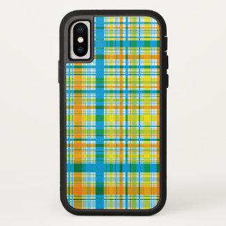 Retro klassischer blauer karierter iPhone x hülle
