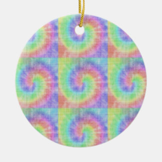 Retro Krawatten-Pastellmuster-Strudel Keramik Ornament
