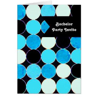 Retro Kreis-Junggeselle-Party Einladungs-Karte Grußkarte