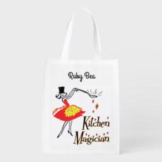 Retro Küchen-Magier-Gewohnheits-Einkaufstüte Einkaufstaschen