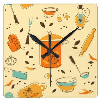Retro Küchen-Quadrat-Wanduhr Quadratische Wanduhr
