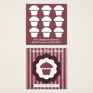 Retro Kuchendiamant-Loyalitätsdurchschlag Quadratische Visitenkarte