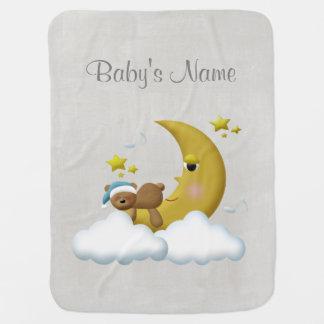 Retro kundenspezifische personalisierte Baby-Decke