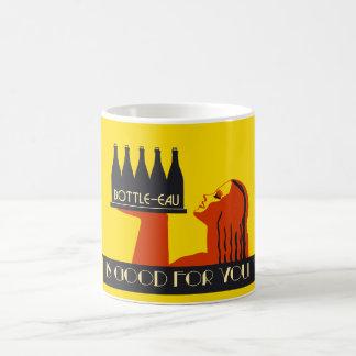 retro Kunst-Deko der Art Flasche-Eau Tasse