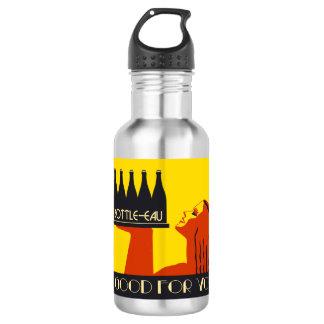 retro Kunst-Deko der Art Flasche-Eau Trinkflaschen