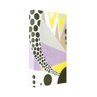 Retro Kunst-Deko-Jazz-Polka-Punkt-Zickzack-Muster Leinwanddruck