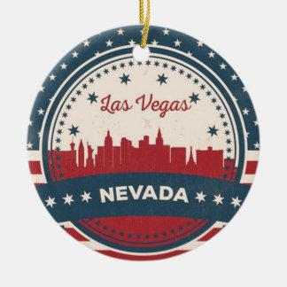 Retro Las Vegas-Skyline Keramik Ornament