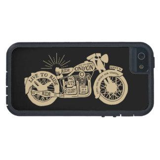 Retro leben Sie, um Vintages Motorrad mit Text zu iPhone 5 Etuis