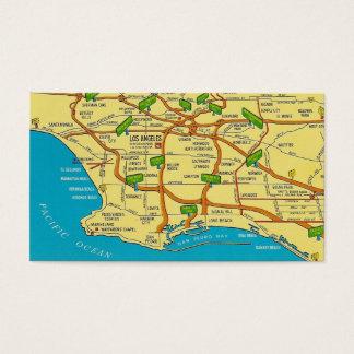 Retro Los Angeles Visitenkarte
