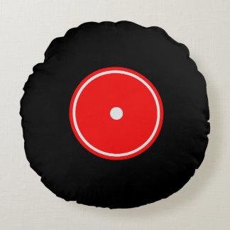 Retro LP-Vinylaufzeichnung   rotes u. orange Rundes Kissen