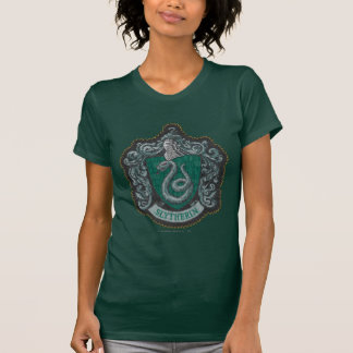 Retro mächtiges Slytherin Wappen Harry Potter | T-Shirt