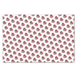 Retro Mädchen-Valentinsgruß-Herzen Seidenpapier