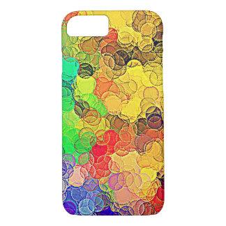 Retro mehrfarbiges Kreis-Muster iPhone 8/7 Hülle