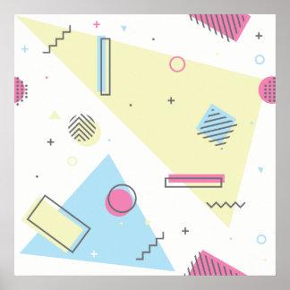 Retro Memphis-Muster-Entwurfs-Plakat Poster