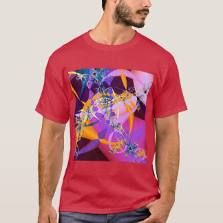 Retro-Mod Mandelbrot Kunst-t Shirt