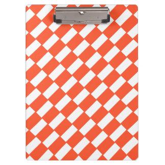 Rétro modèle de rectangles oranges et blancs porte-bloc
