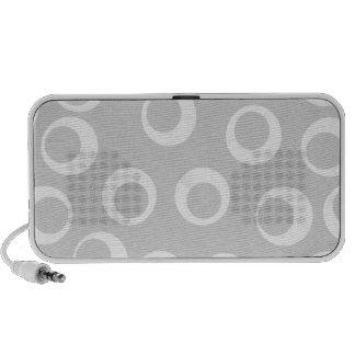Rétro modèle gris-clair et blanc haut-parleurs notebook