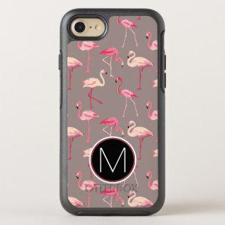 Retro Monogramm der Flamingo-  OtterBox Symmetry iPhone 8/7 Hülle