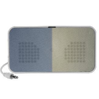 Rétro motif bicolore crème bleu haut-parleur portable