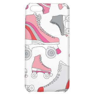 Rétro motif de patin de lames vintages de rouleau étuis iPhone 5C