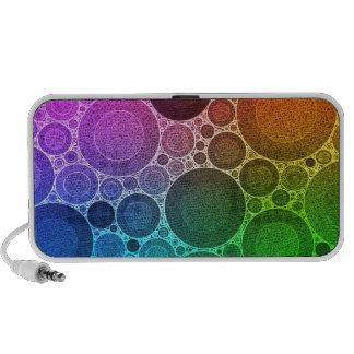 Rétro motif fluorescent haut-parleurs ordinateur portable
