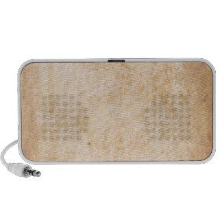 Rétro motif grunge beige haut-parleur portable