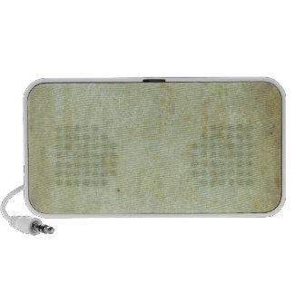 Rétro motif grunge vert haut-parleurs notebook