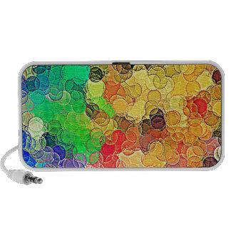 Rétro motif multicolore de cercles haut-parleurs de voyage